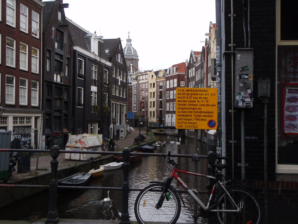 Canal with Bike; Amsterdam, Netherlands; 2010