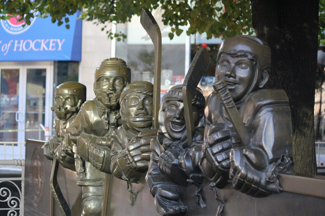 Hockey Player Statues; Toronto, Canada; 2011