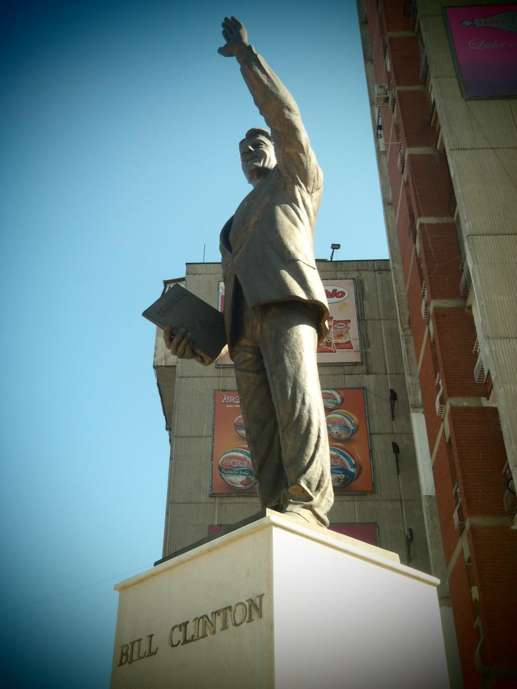 Bill Clinton Statue; Pristina, Kosovo; 2013
