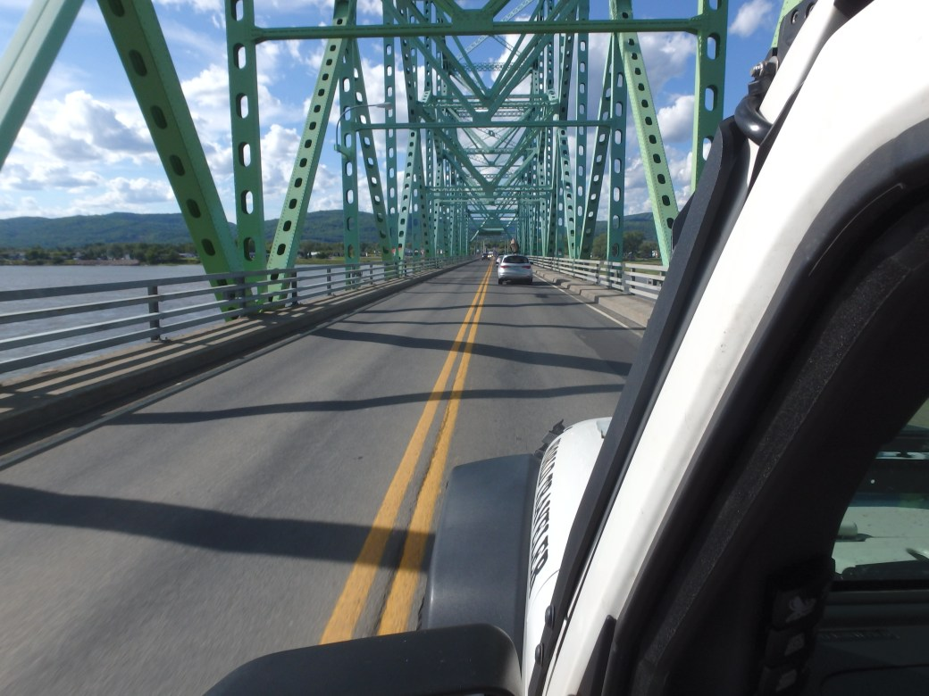 Crossing Canadian Provinces: New Brunswick to Quebec; 2015