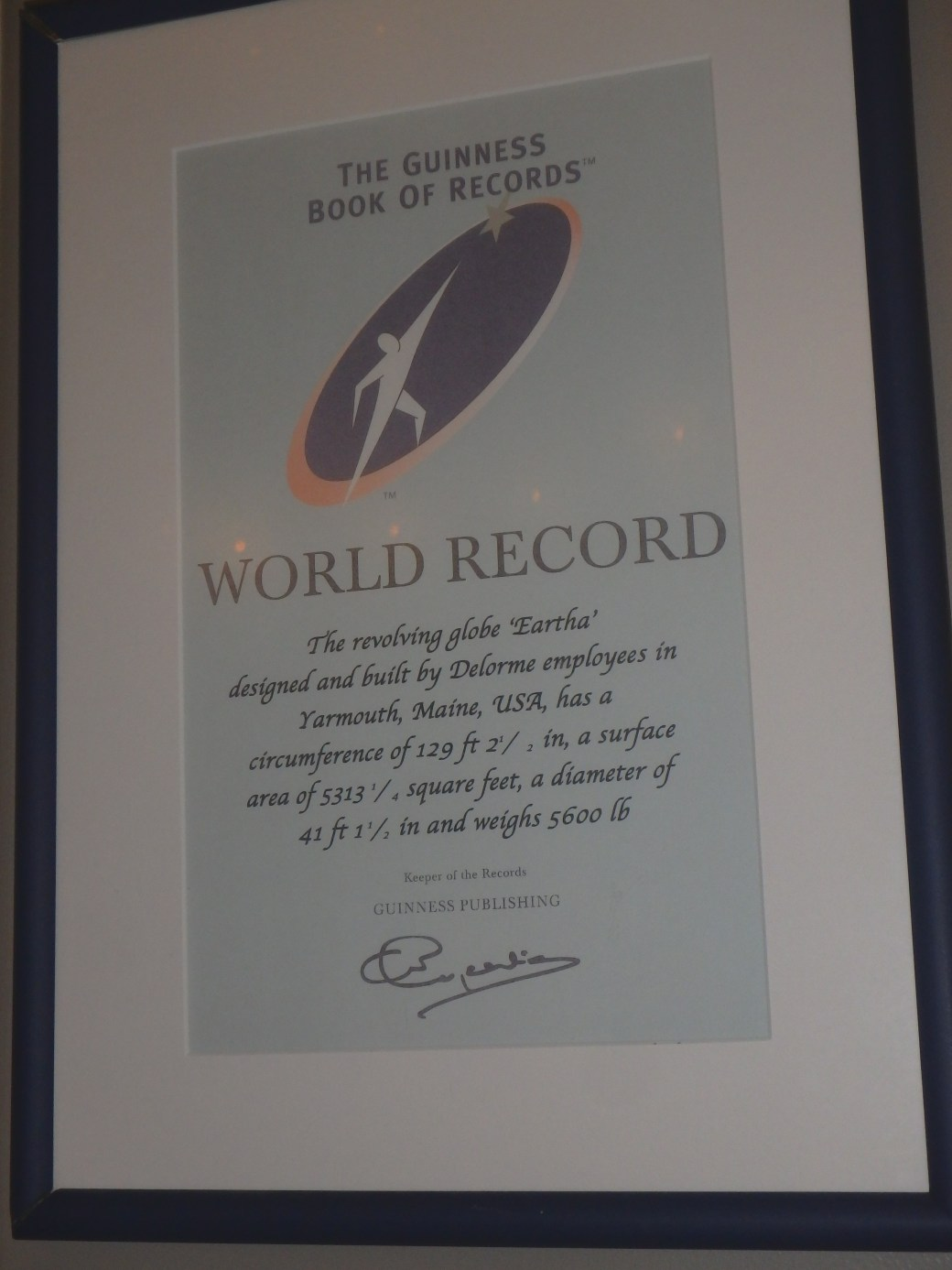 Eartha's Guinness Book of World Records; Yarmouth, ME; 2015