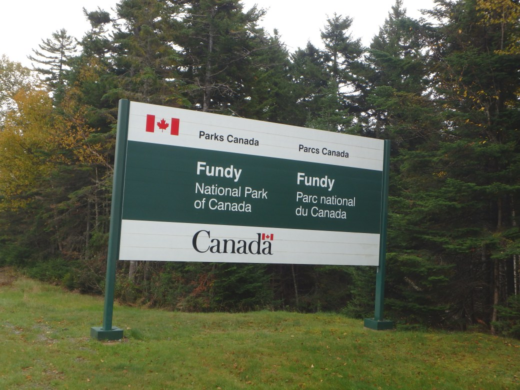 Fundy Sign; Fundy National Park; 2015