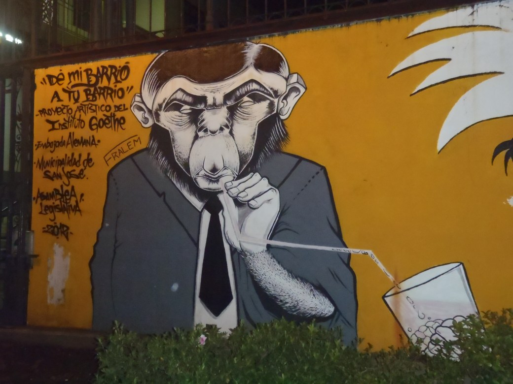 Monkey Street Art; San Jose, Costa Rica; 2013