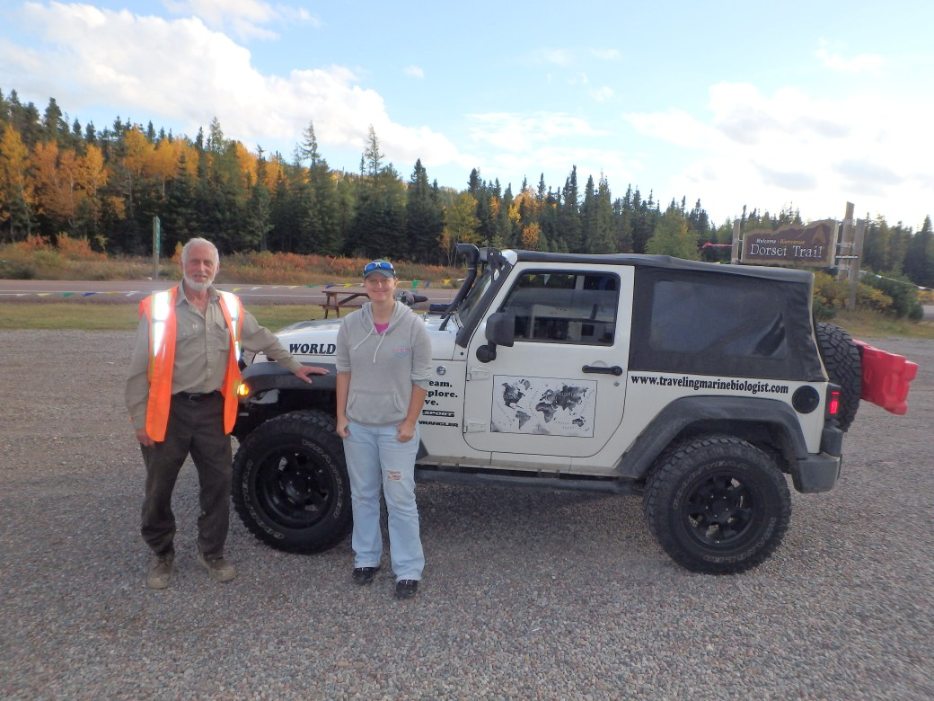 Roy Richards, Jessica, & Oakley (Jeep); Dorset Trail, Newfoundland; 2015