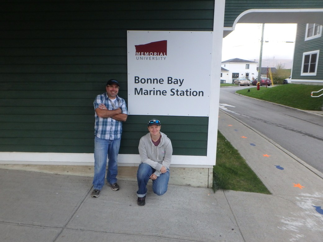 Dr. Robert J. Scott & Jessica; Bonne Bay Marine Station, Newfoundland; 2015