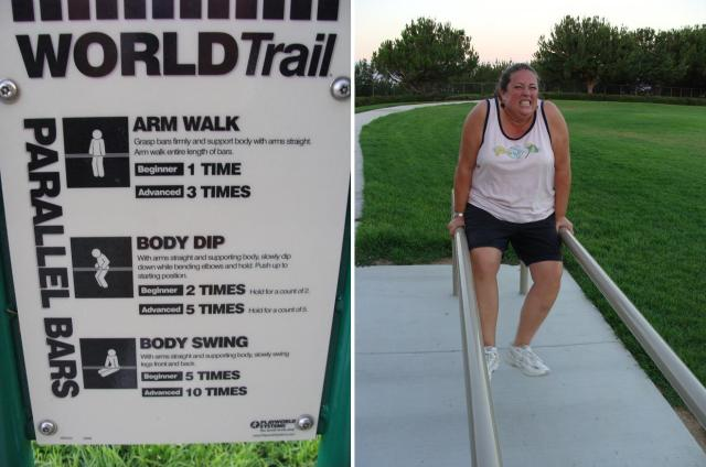arm walk fitness station