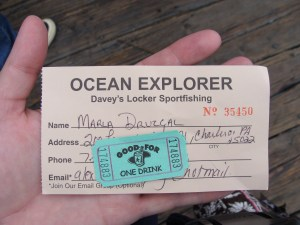 Boarding and drink pass on the Ocean Explorer