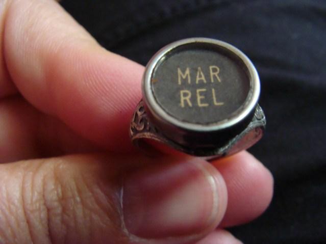 Typewriter key ring jewelry
