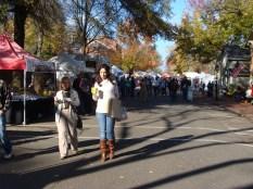 trendy fashion shopper crowd Apple Butter Stirrin' Festival