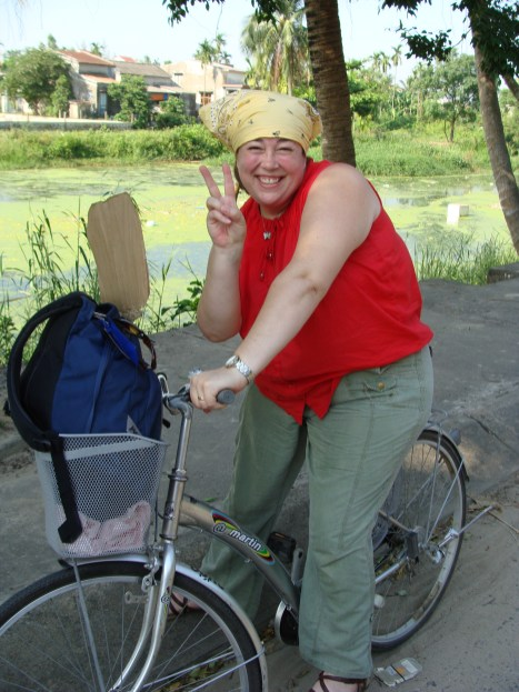 riding bicycles Vietnam
