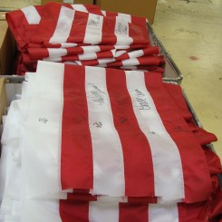 Annin Flag Factory Tour Traveling Marla Coshocton Ohio American flag Ohio flag Annin flag