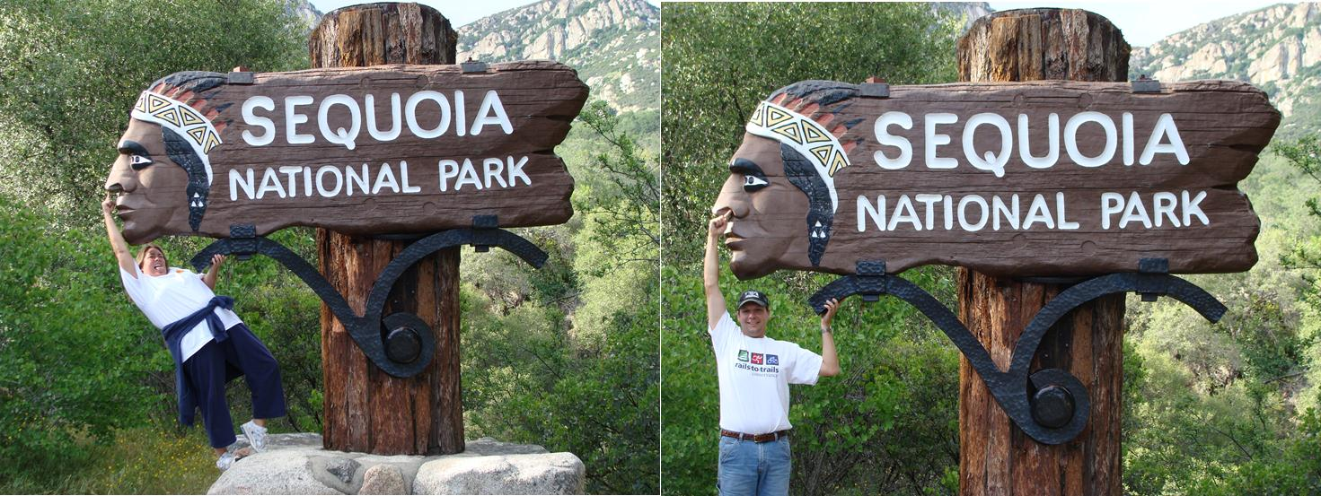 Sequoia National Park Indian sign entrance