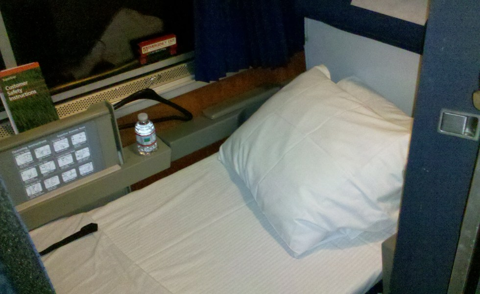 Amtrak roomette train travel sleeper car