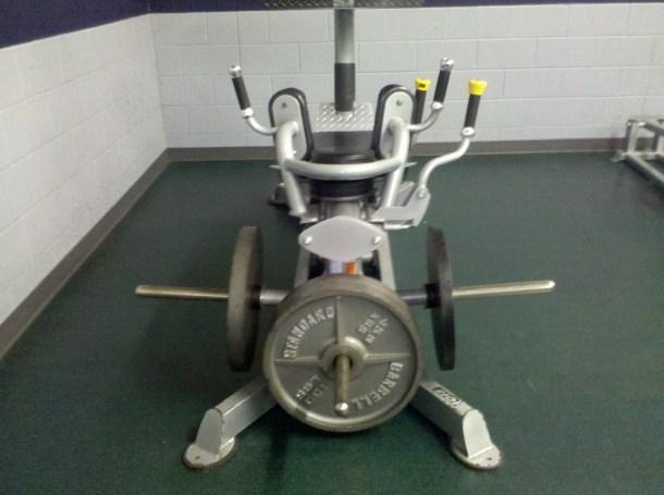 overworking quad muscles leg press