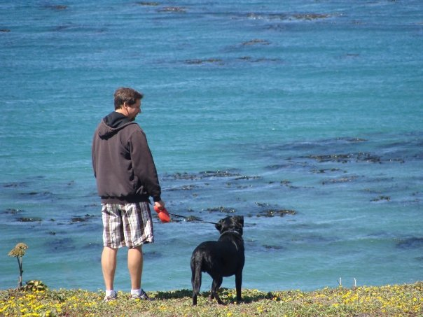 Highway One, California coastline dog man happiness thankful gratitude quotes