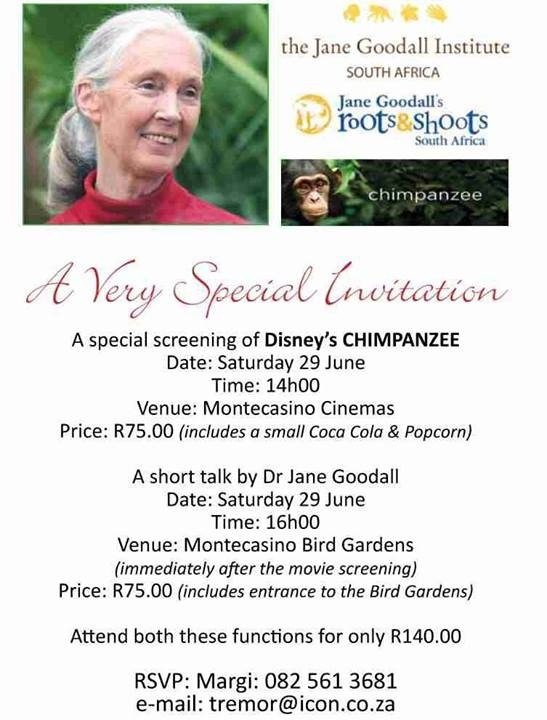 meeting Dr Jane Goodall Pretoria, South Africa