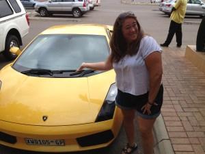 travel South Africa yellow lamborghini