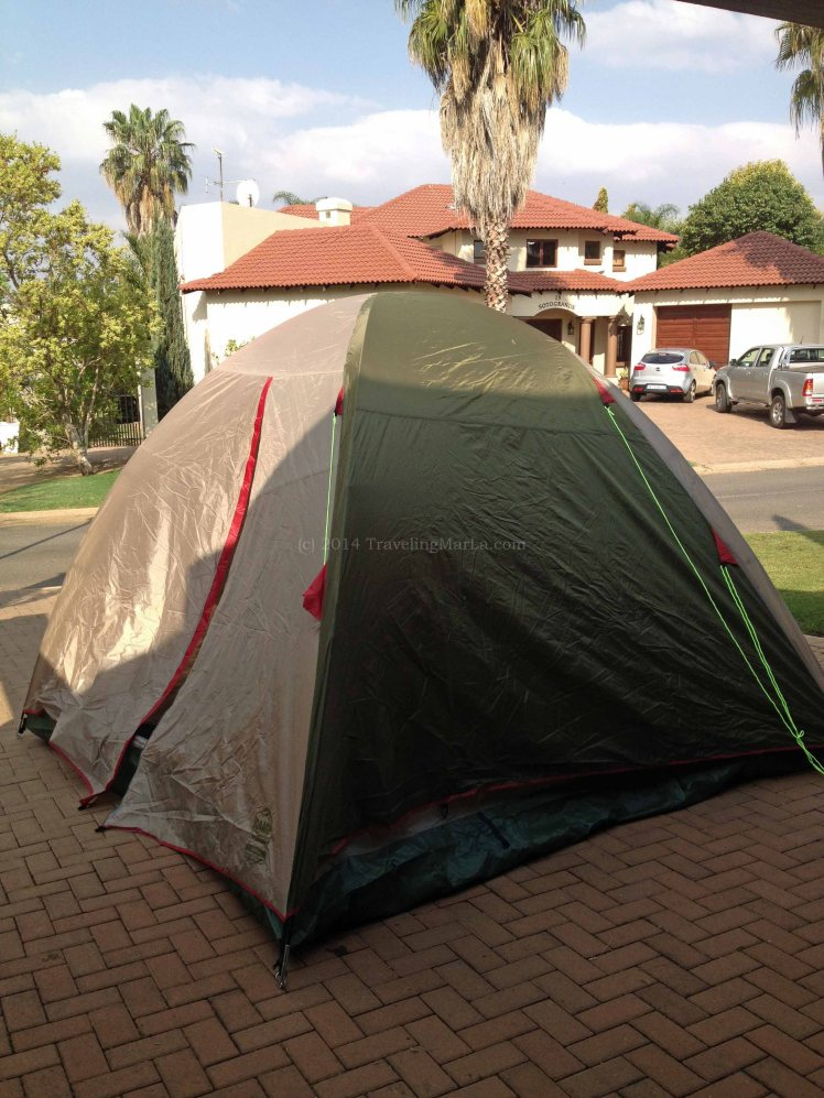 Africa travel tent camping