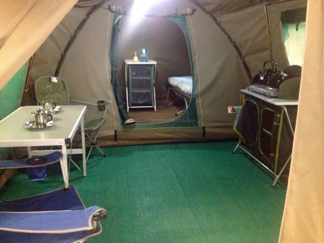 travel Africa camping tent