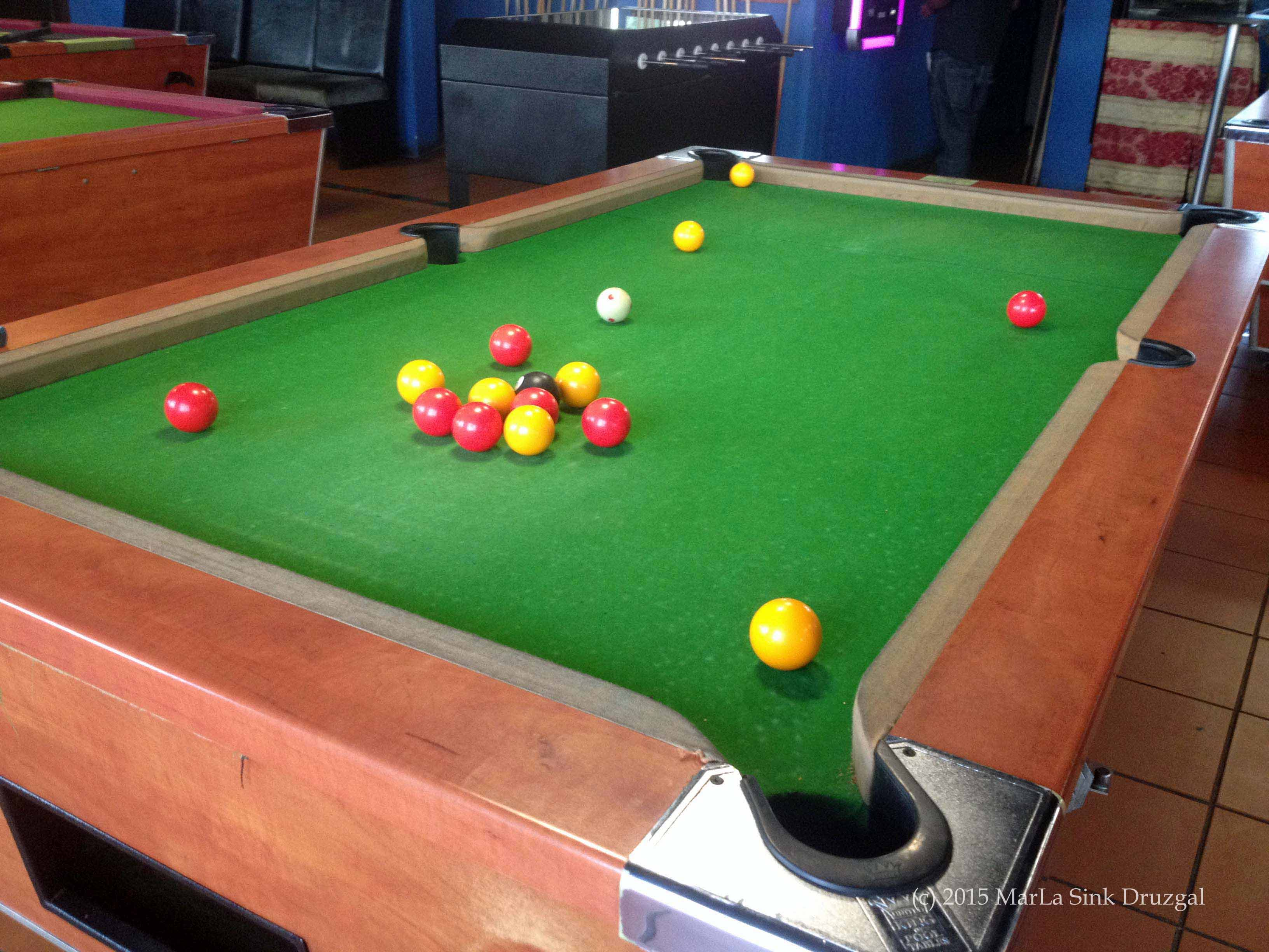 Pardon Me But Your Balls Are The Wrong Color MarLa Sink Druzgal - Travel pool table