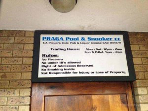 playing pool in other countries travel South Africa