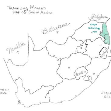 Kruger National Park map south africa