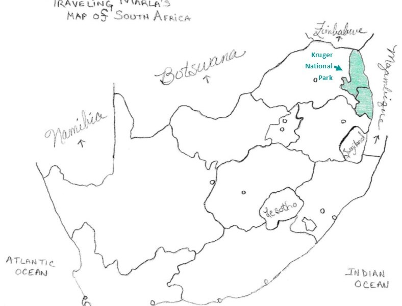 Kruger National Park map south africa
