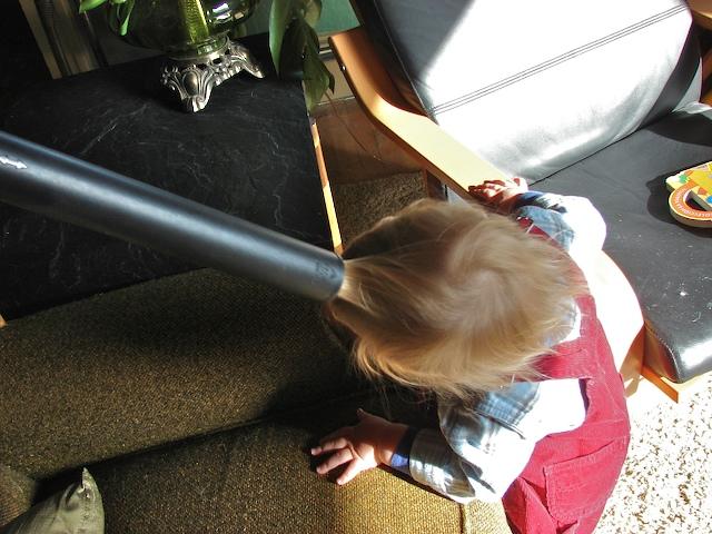 Vacuuming hair
