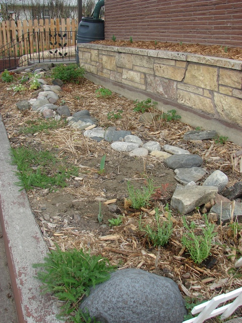 west end of the front bed