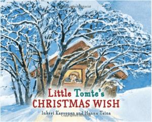 Little Tomte's Christmas Wish by Inkeri Karvonen Kids books about gnomes