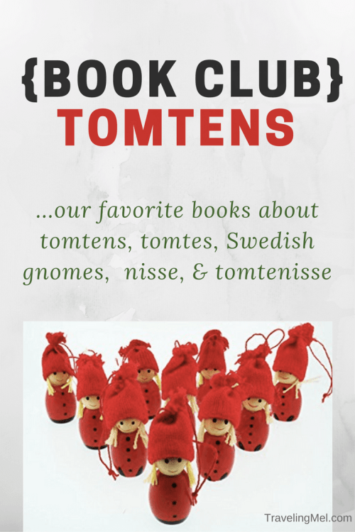 Books about tomtens, tomte, Swedish gnomes, nisse, and tomtenisse, little magical people who help take care of animals on the farm in In Scandinavian folklore