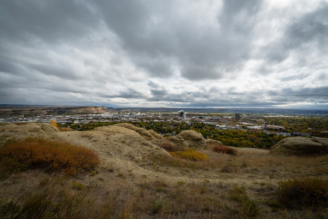 View of Billings Montana from the Rim