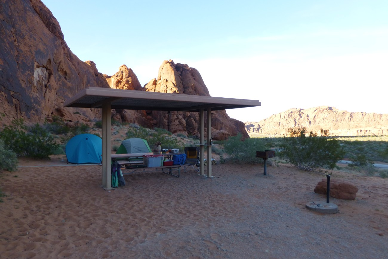 Campsite 1 at Atlatl Campground in Valley of Fire State Park