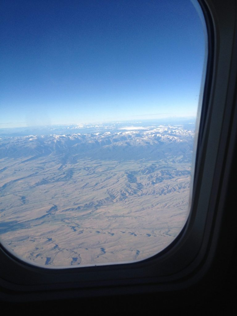 California to DC via Montana: View of Montana from an airplane
