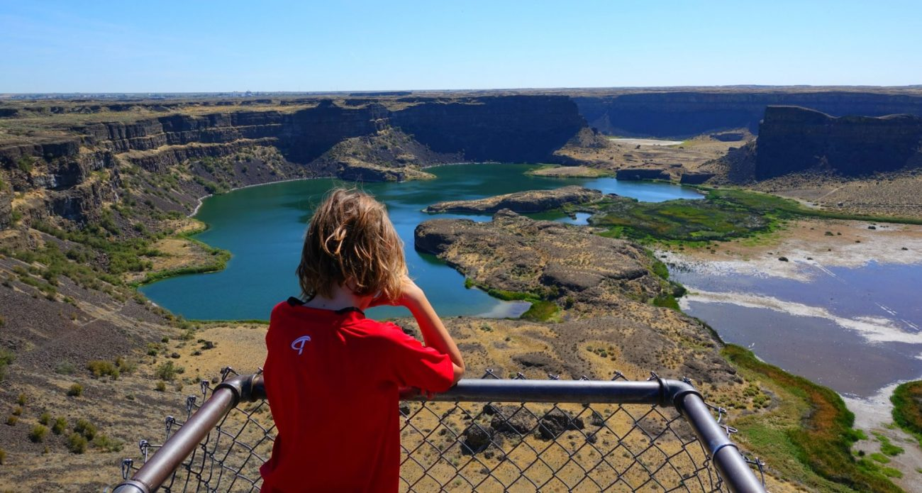 Highway 2 roadside attractions Dry Falls State Park things to do in Washington