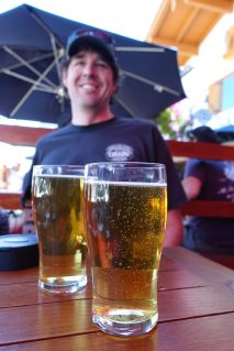 Highway 2 roadside attractions Beer at Sulla vida in Leavenworth, Washington -- beer tour.