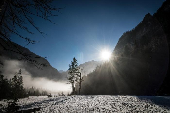 Snow in Berchtesgaden National Park