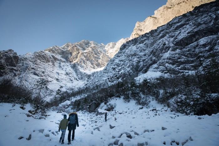 Hiking to Watzmann in Nationalpark berchtesgaden