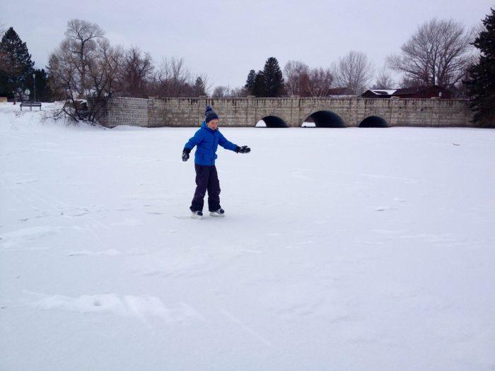 Wild ice, backcountry ice skating