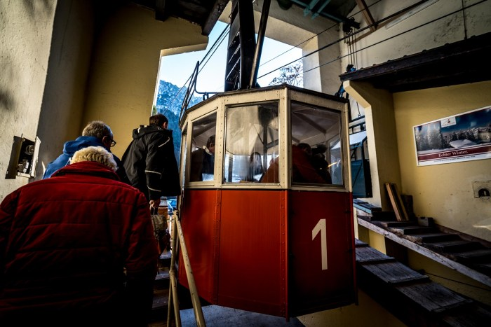 The bad reichenhall gondola is an easy way up to the ski are above Bad Reichenhall