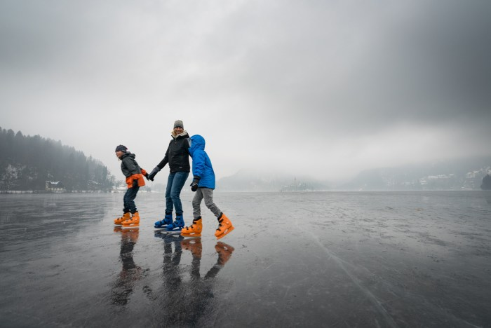 Can you ice skate on lake Bled? Bled Slovenia Winter