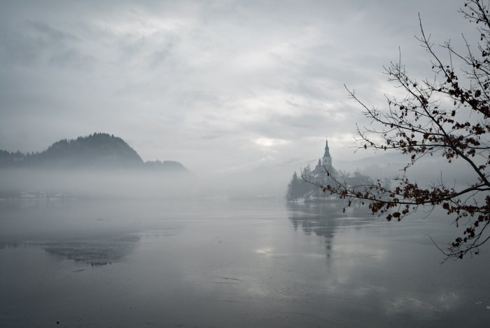 Island in Lake Bled with church