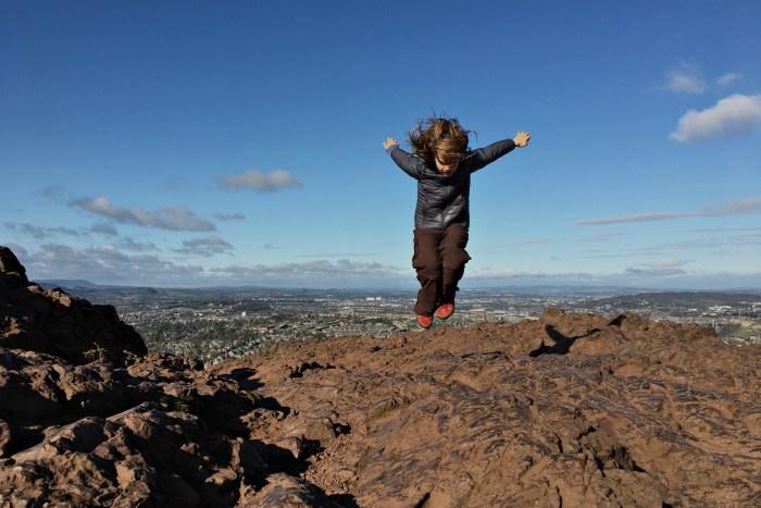 Hiking Arthur's Seat in Edinburgh with kids