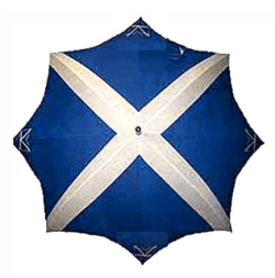 Scottish umbrellas are a must