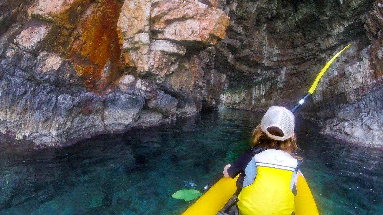 kayaking through caves in montenegro