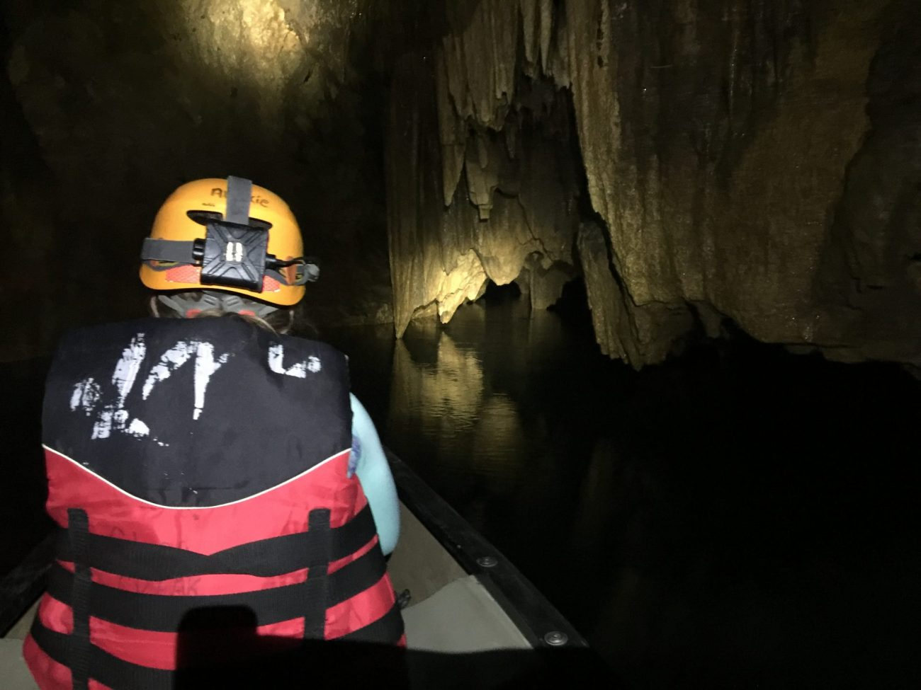 cave kayaking or cave canoeing in Belize