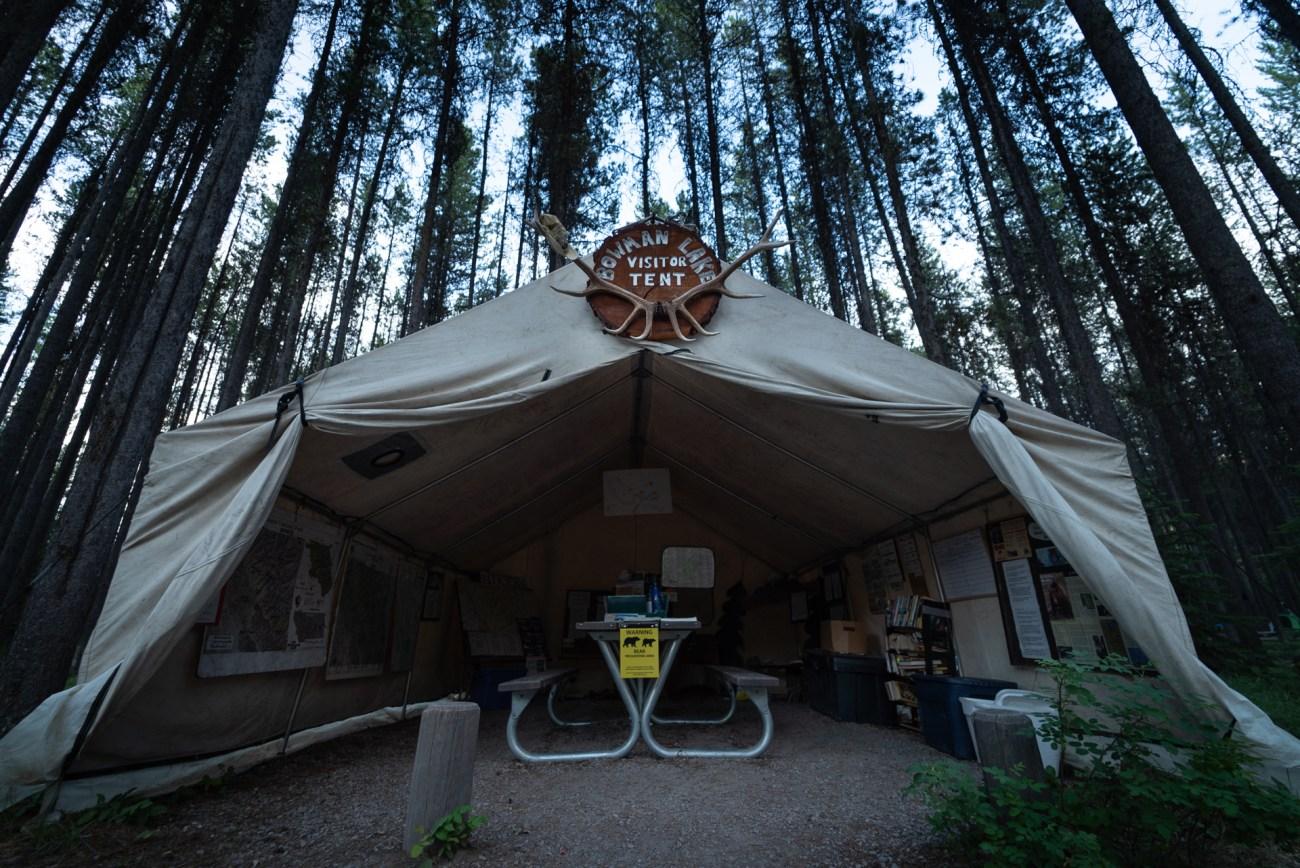 Camping in Glacier National Park at Bowman Lake Campground