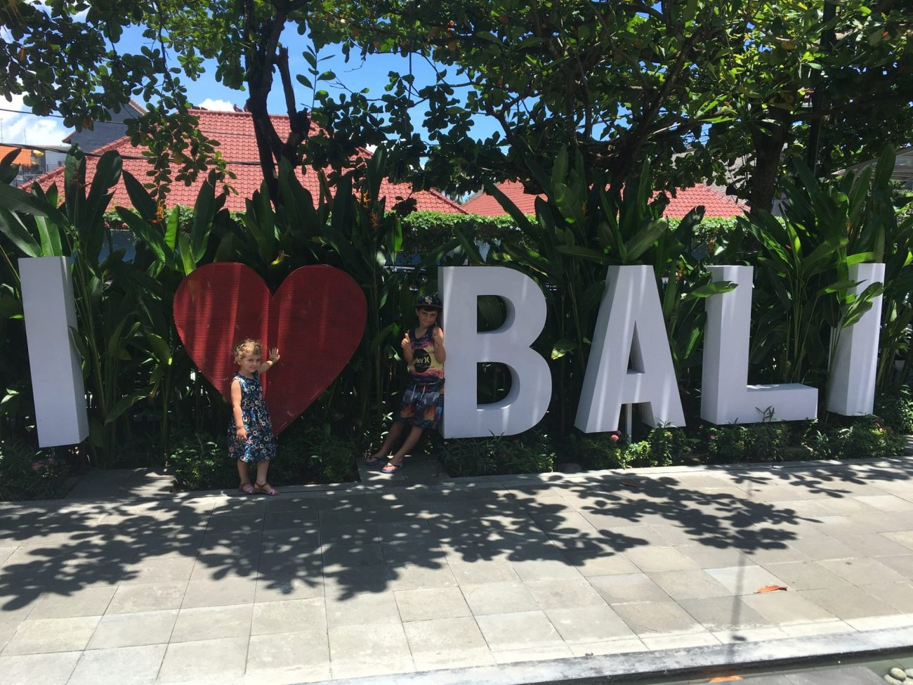 Where to stay in Bali with a family I love Bali sign Ubud, Bali, Indonesia