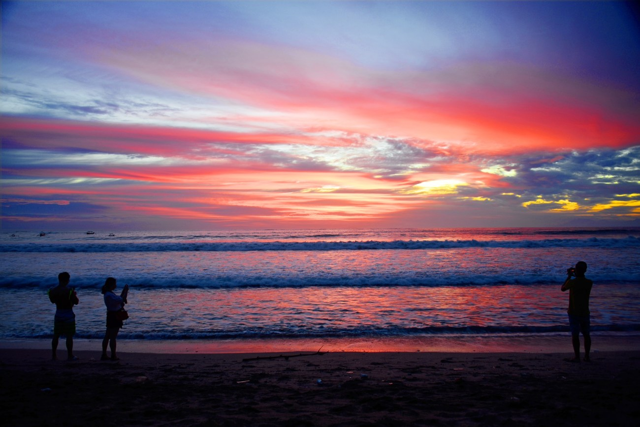 sunset at kuta-beach-Bali