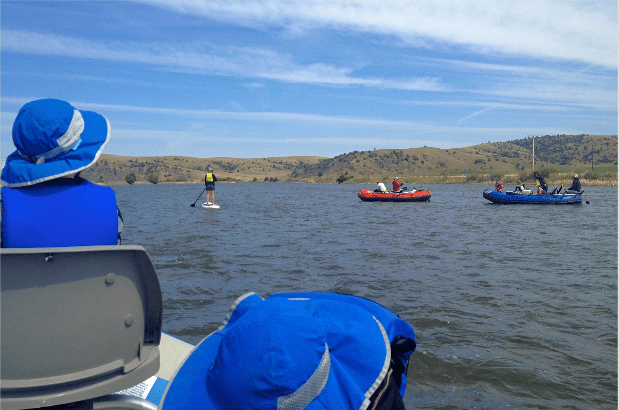 Family float on the Yellowstone River